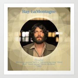 Album Cover Ray LaMontagne Art Print