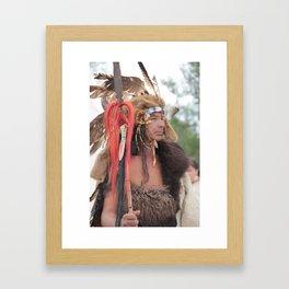 Red Hawk, Lakota Warrior Framed Art Print