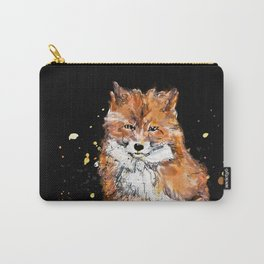Fox in black Carry-All Pouch