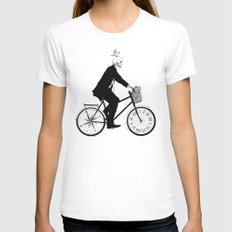 Better Late than Never White MEDIUM Womens Fitted Tee