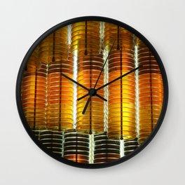 Yellow Glass Wall Clock