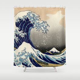The Great Wave off Kanagawa Hokusai Shower Curtain