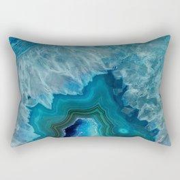 Agate Crystal Slice Rectangular Pillow