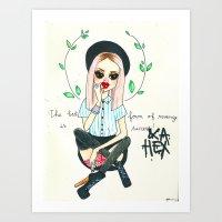 The best form of revenge is success & a hex Art Print