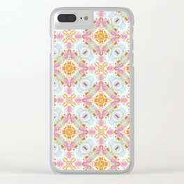 Sweet Vintage-Look Pattern Clear iPhone Case
