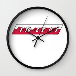 Poland Biało-czerwoni (The White and Reds) ~Group H~ Wall Clock