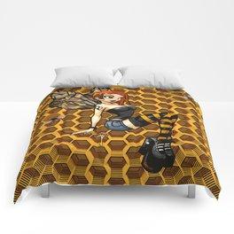 Pinup Honey Bee Comforters