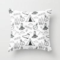 wanderlust Throw Pillows featuring Wanderlust by Tracie Andrews