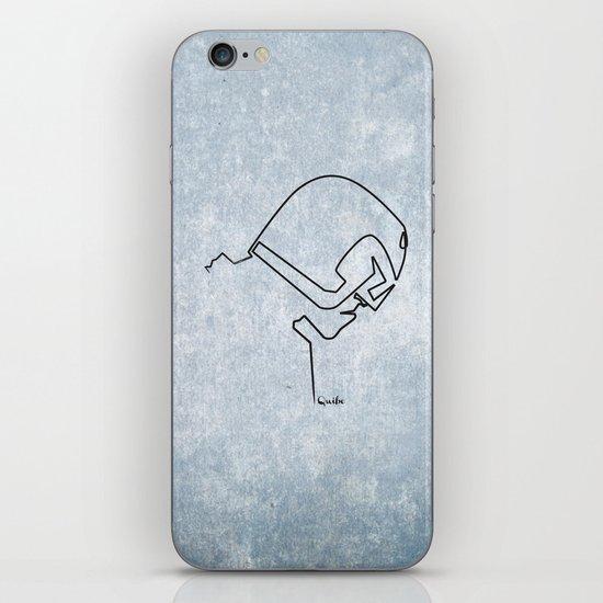 One line Dredd iPhone & iPod Skin