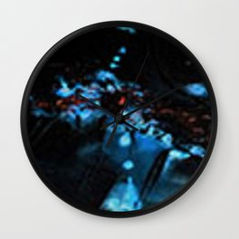 Abstract Black Blue Outer Space Galaxy Cosmos Jodilynpaintings Painting Wall Clock