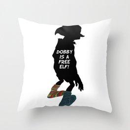 Dobby is a free elf!  Throw Pillow