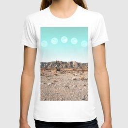 Desert Daylight Moon Ridge // Summer Lunar Landscape Teal Sky Red Rock Canyon Rock Climbing Photo T-shirt