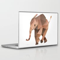 low poly Laptop & iPad Skins featuring Low Poly Elephant by The animals moved to - society6.com/dian