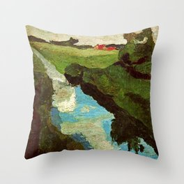 Landscape - Paula Modersohn-Becker Throw Pillow