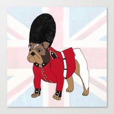 British Bulldog Guard Canvas Print