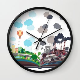 EcoBook Wall Clock