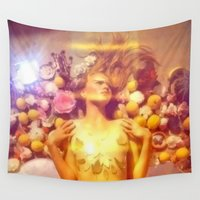 ginger Wall Tapestries featuring Ginger & Lemon by Slow Toast