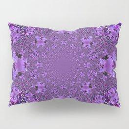 Encrusted Amethyst Purple Gems February Birthstones art Pillow Sham
