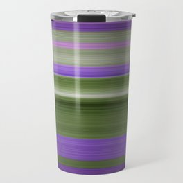 Stripes in Purple and Green Travel Mug