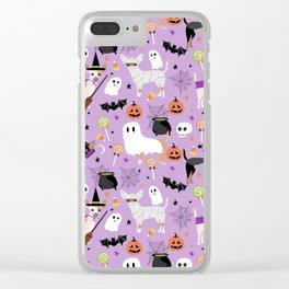 Chihuahua halloween cute spooky seasonal dog pattern chihuahuas Clear iPhone Case