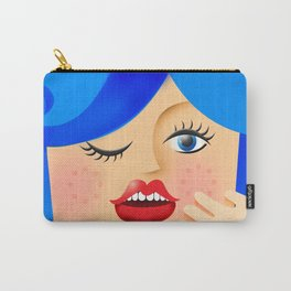 Lola Blue Carry-All Pouch