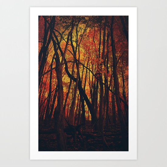Fall on Fire Art Print