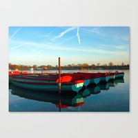 rowing Canvas Prints featuring Rowing skips by Doug McRae