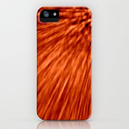 Burnt Orange Pixel Wind iPhone Case