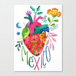 Corazón Mexicano Canvas Print