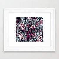 dahlia Framed Art Prints featuring Dahlia by RIZA PEKER