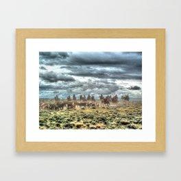 Cowboy Storm Framed Art Print