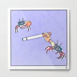 Nasty Crabits Metal Print