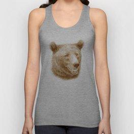 Brown bear is happy Unisex Tank Top
