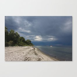 nature reserve in lieps, baltic sea Canvas Print