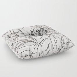 Charcoal Tropics Floor Pillow