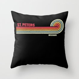 St. Peters Missouri City State Throw Pillow
