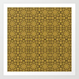 Spicy Mustard Geometric Art Print