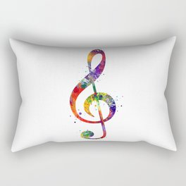 Treble Clef Sign 2 Watercolor Print Music Poster Home Decor Rectangular Pillow