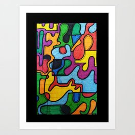 Picasso style Art Print