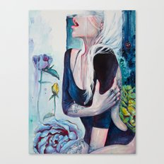 In Her Garden Canvas Print
