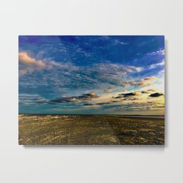 Beach Five in the Sunset Metal Print