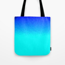 Electric Blue Ombre flames / Light Blue to Dark Blue Tote Bag