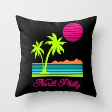 Tropical North Philly Throw Pillow