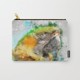 Parrot Watercolor Carry-All Pouch