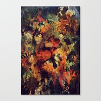 Canvas Prints featuring Lion by Andreas Lie