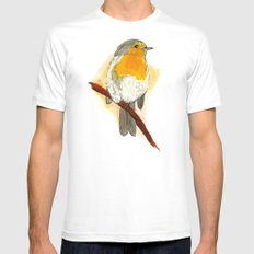 Yellow Bird MEDIUM White Mens Fitted Tee