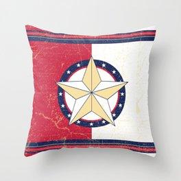Americana Texas Star Throw Pillow