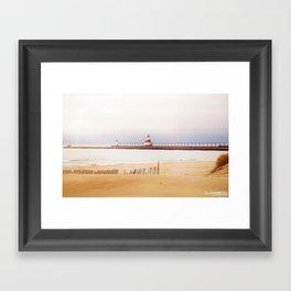 St. Joseph Silver Beach Lighthouse Framed Art Print