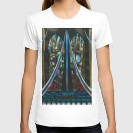Brooklyn Bridge, New York City Skyline Art Deco landscape painting by Joseph Stella T-shirt