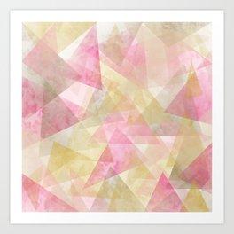 Abstract geometry pattern Art Print